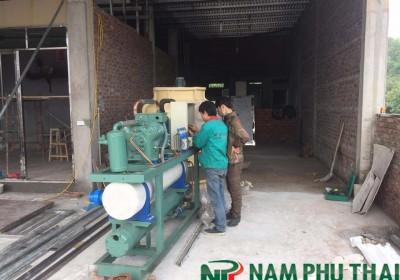 Lắp đặt máy đá cây công suất 4 tấn/24h tại Chương Mỹ Hà Nội
