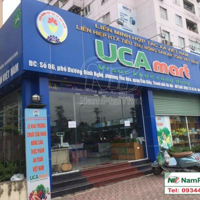 Lắp đặt kho lạnh bảo quản thực phẩm liên hiệp hợp tác xã an toàn UCA Mart 1